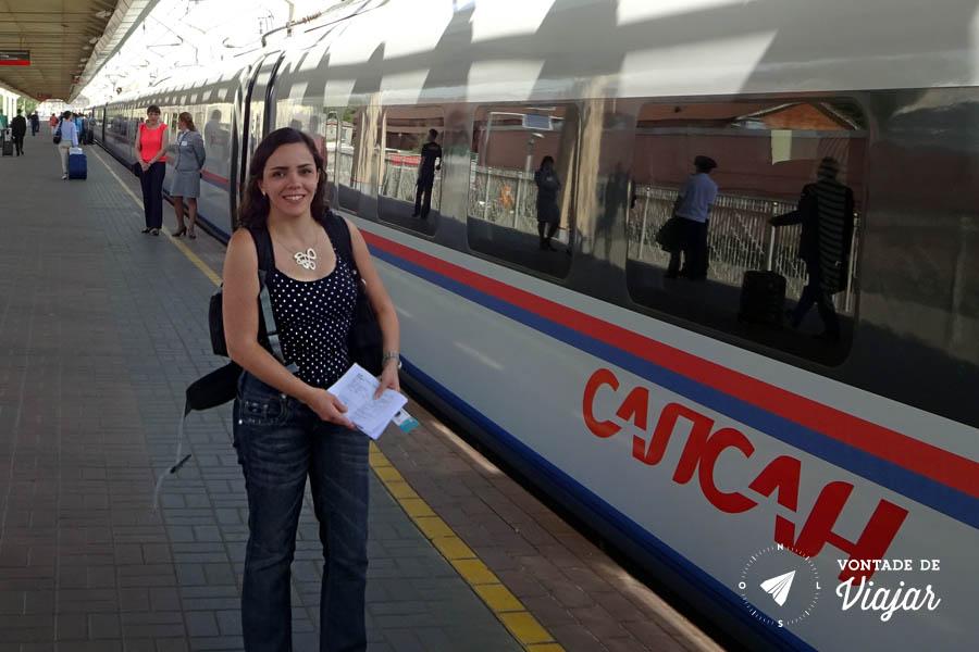 Dicas de viagem para a Russia - Sapsan trem de alta velocidade