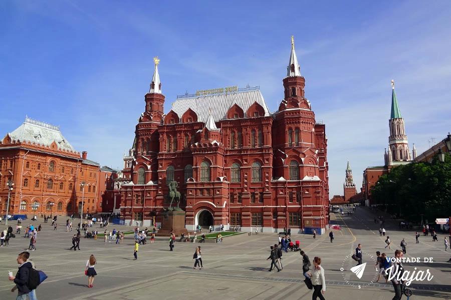 O que fazer em Moscou - Praca Vermelha Russia