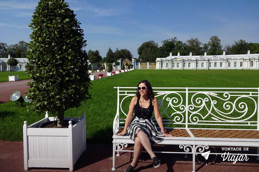 O que fazer em Sao Petersburgo - Nanda no Palacio de Catarina