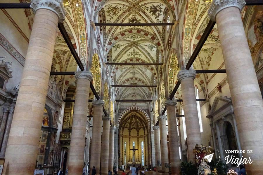 O que fazer em Verona Italia - Igrejas de Verona Basilica de Santa Anastasia