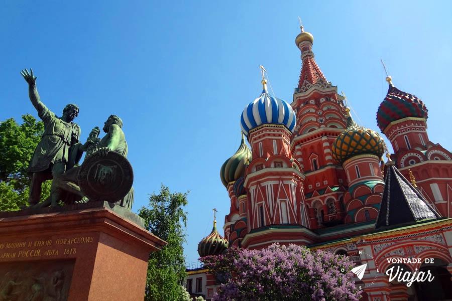 Praca Vermelha em Moscou - Catedral de Sao Basilio Igreja Kremlin
