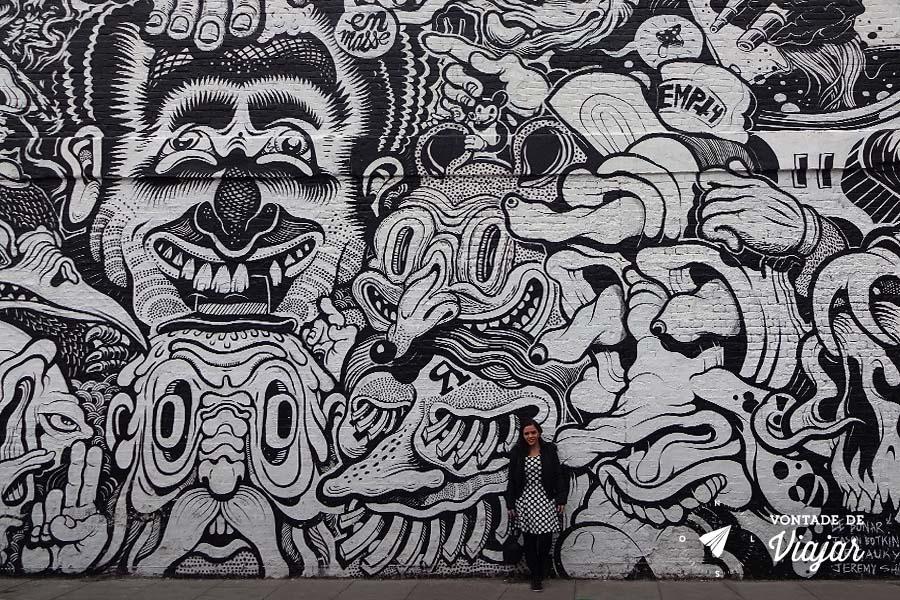 Street art Londres - graffiti em Shoreditch