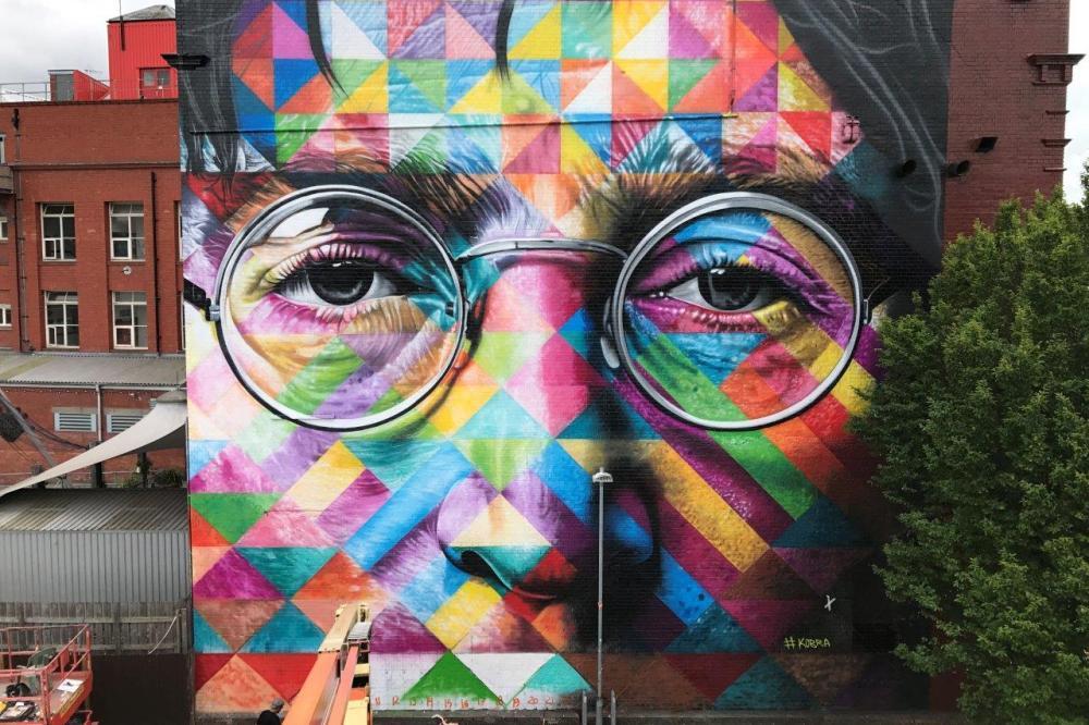 Viagens John Lennon - Mural Kobra UpFest Bristol agosto 2017