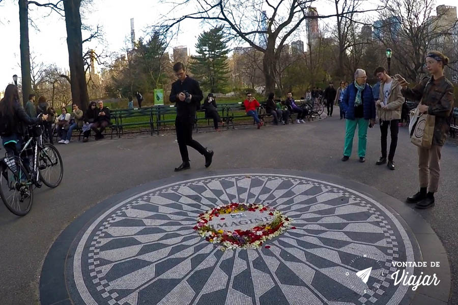 Viagens John Lennon - Strawberry Fields Memorial Imagine Central Park NY