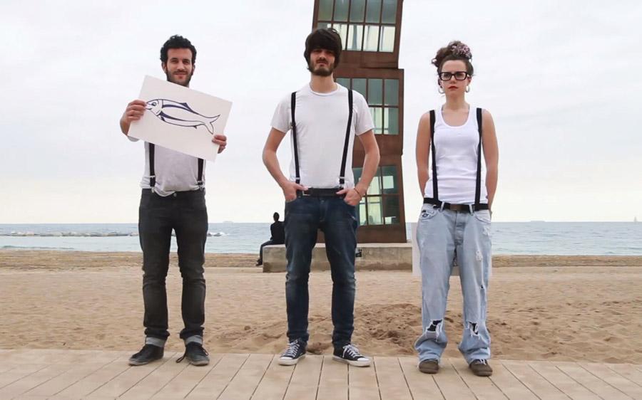 Bandas catalas - Els Catarres na praia de Barceloneta