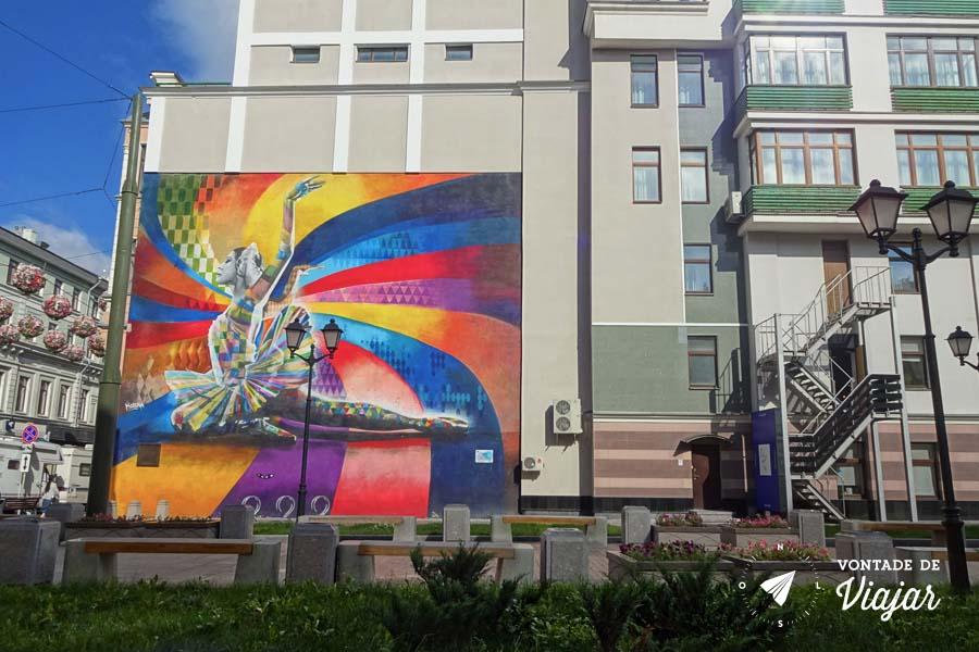 Graffiti Bailarina Kobra em Moscou - Onde fica rua Bolshaya Dmitrovka