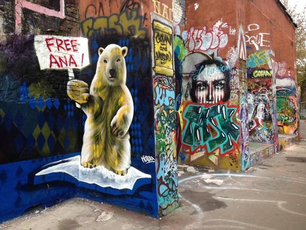 Graffiti Kobra em Moscou - Urso Polar Free Ana Artic 30