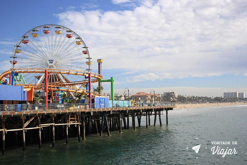 O que fazer em Los Angeles - Parque de diversao no Pier Santa Monica