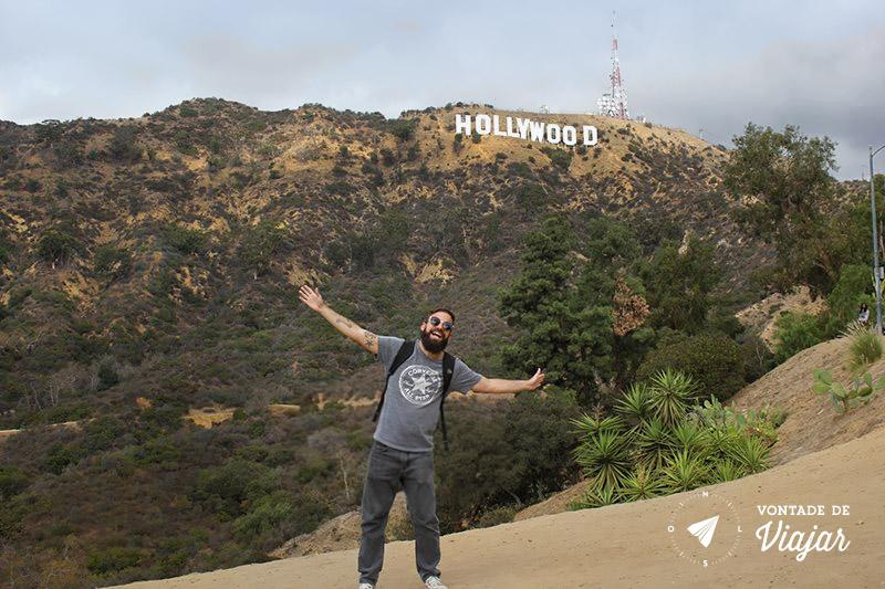 O que fazer em Los Angeles - Rodrigo no Hollywood Sign