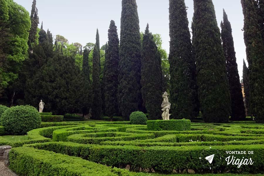 O que fazer em Verona - Giardino Giusti jardim de Goethe e Mozart