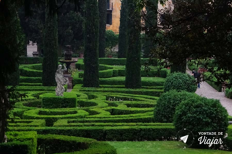 O que fazer em Verona - Giardino Giusti paisagismo geometrico