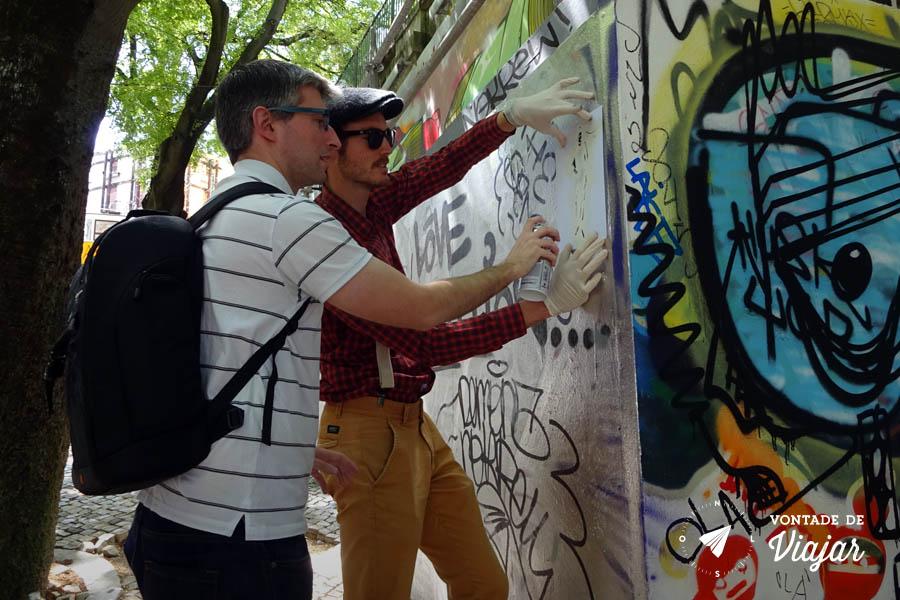 Tour em Lisboa - Galeria de Arte Urbana Adriano e Elliot