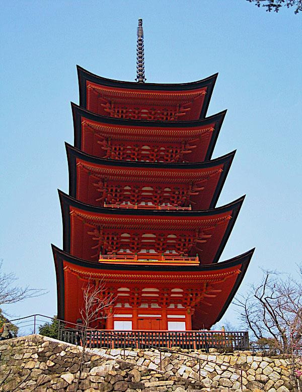 Roteiro Japao - Pagoda do Santuario de Itsukushima Miyajima