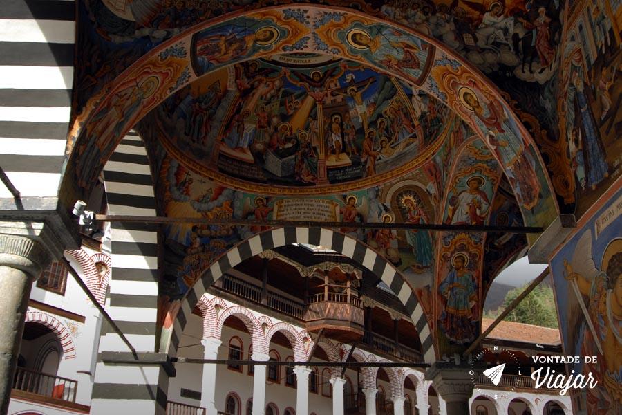 Roteiro de viagem Bulgaria - Mosteiro de Rila Pinturas