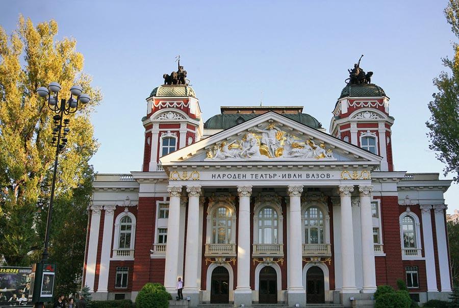 Roteiro de viagem Bulgaria - Teatro Nacional Ivan Vazov em Sofia