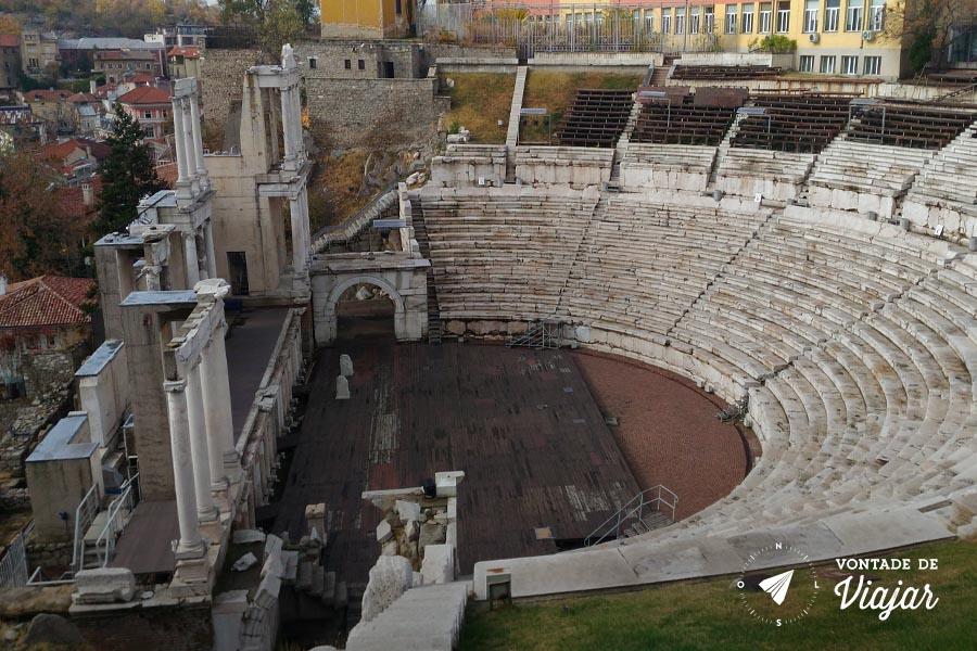 Roteiro de viagem Bulgaria - Teatro Romano de Plovdiv