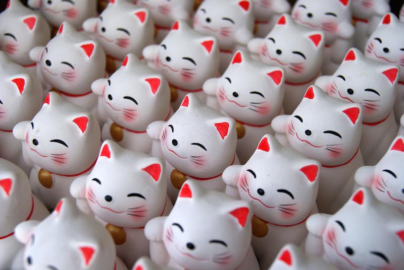Maneki neko o gatinho que traz sorte e dinheiro