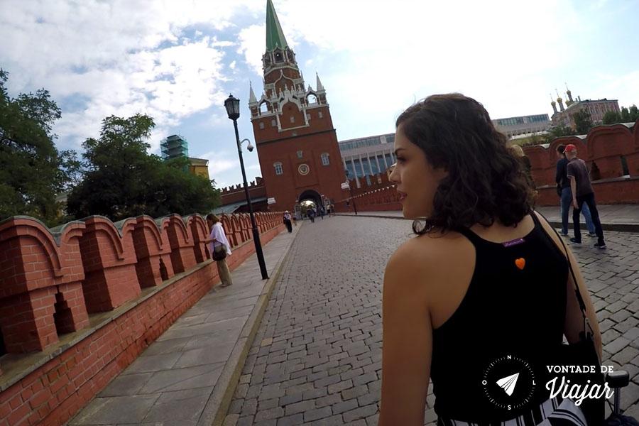 O que fazer em Moscou - Nanda no Kremlin fortaleza russa