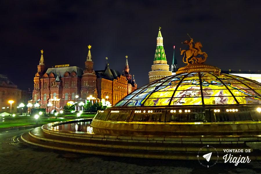 O que fazer em Moscou - Praca Vermelha a noite