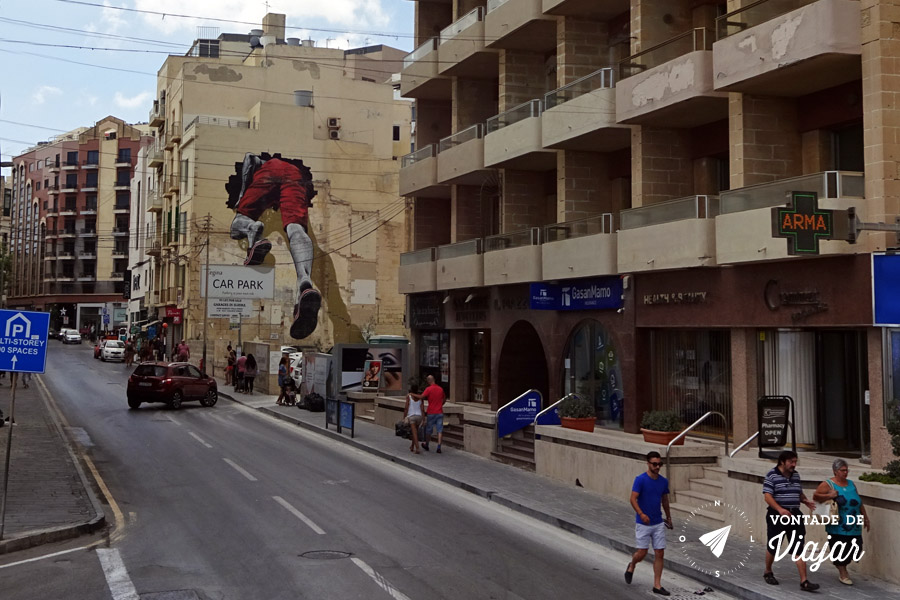 Onde ficar em Malta - Sliema street art