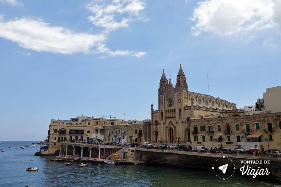 Onde ficar em Malta - St Julians Igreja de Nossa Senhora do Carmo