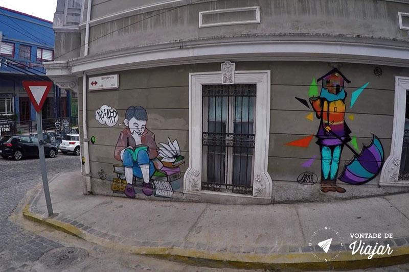 Street art em Valparaiso - Calle Templeman