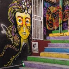 Street art em Valparaiso - Graffiti na escada