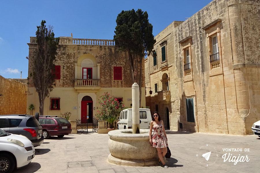 Mdina de Malta - Casas perto da Bastion Square