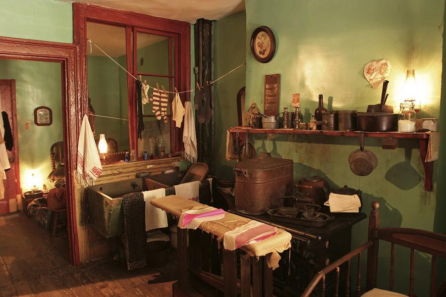 Tenement Museum - Cozinha da familia Levine - Foto Battman Studios