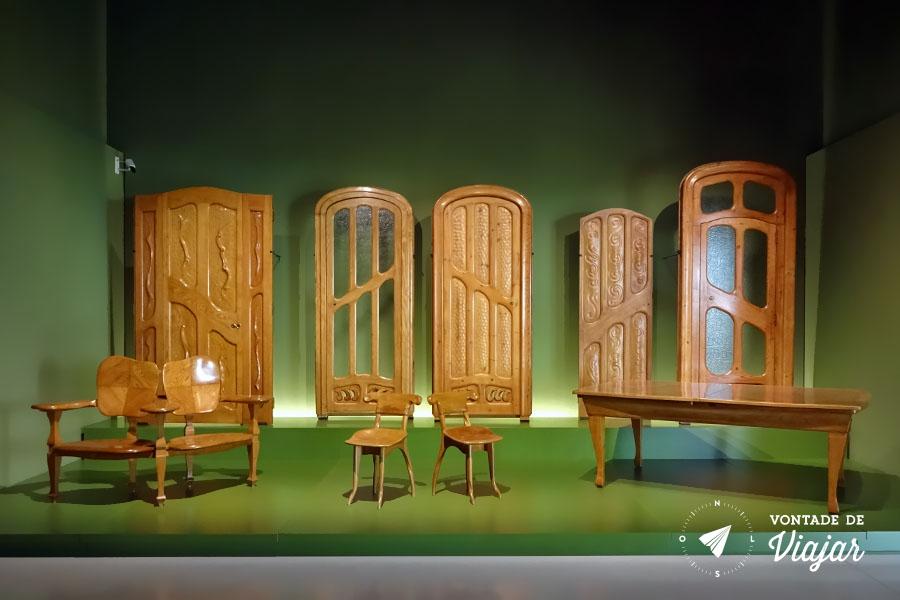 MNAC Barcelona - Moveis modernismo catalao Gaudi