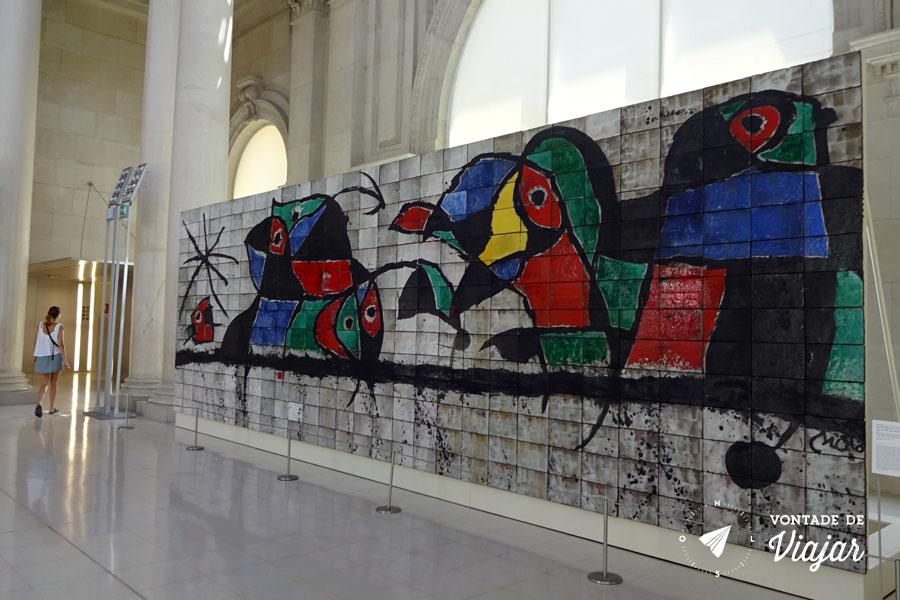 MNAC Barcelona - Mural Joan Miro