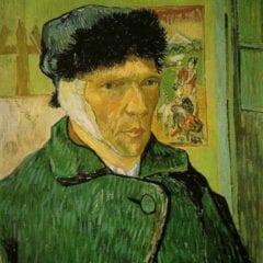 Van Gogh em Arles - Autorretrato com orelha cortada 1889 - Instituto Courtauld de Artes Londres
