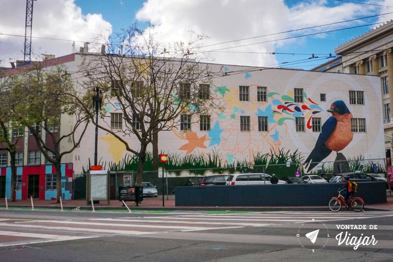 O que fazer em San Francisco California - Mural de street art