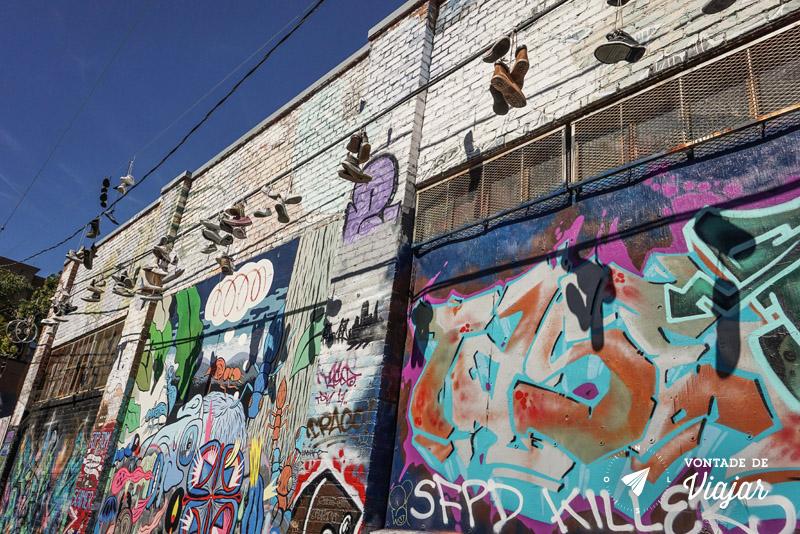 O que fazer em San Francisco California - Tenis pendurados no fio