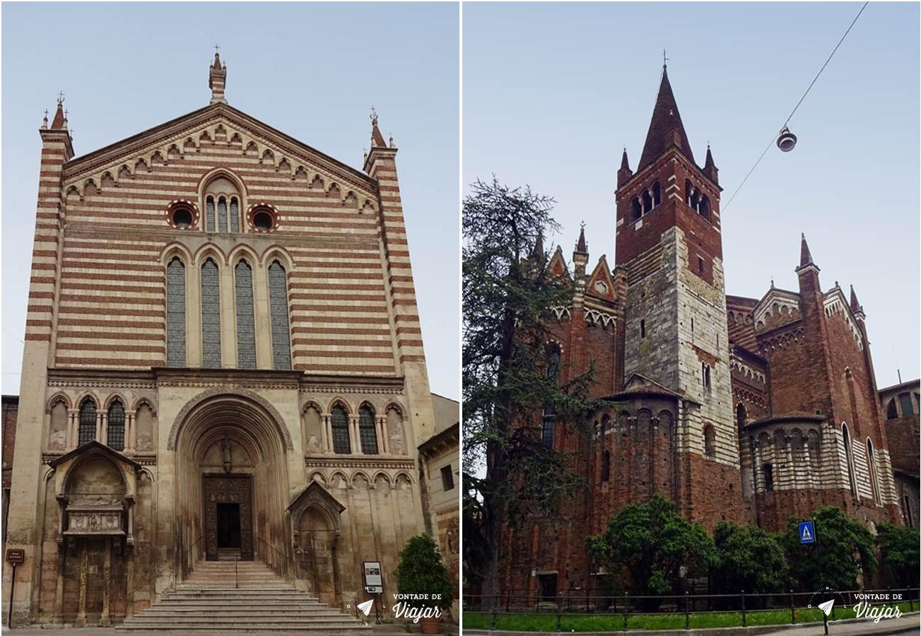 Verona - Igreja de San Fermo lado romanico e lado gótico