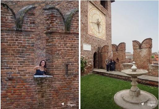 O que fazer em Verona - Castelvecchio Muralha em M e patio do Castelo