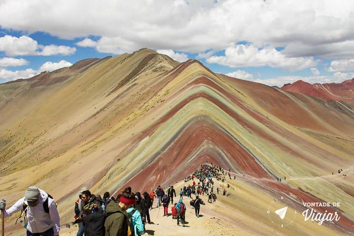 O que fazer em Cusco Peru - Vinicunca Montanha Arco Iris - Foto Klecia Cassemiro