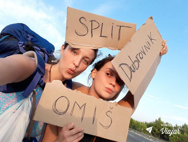 Viagem Croacia - Carona para Split Omis