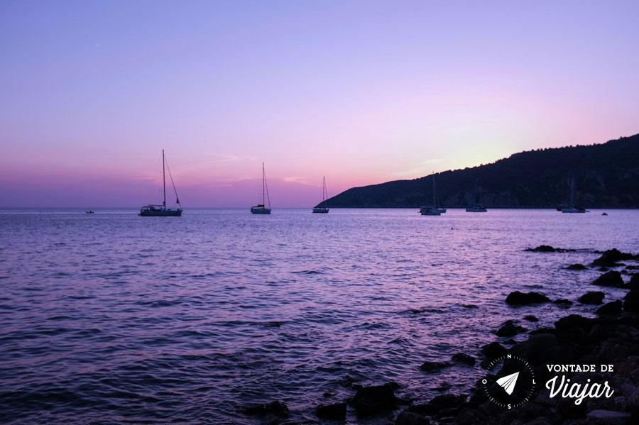 Viagem Croacia - Por do sol no mar Adriatico