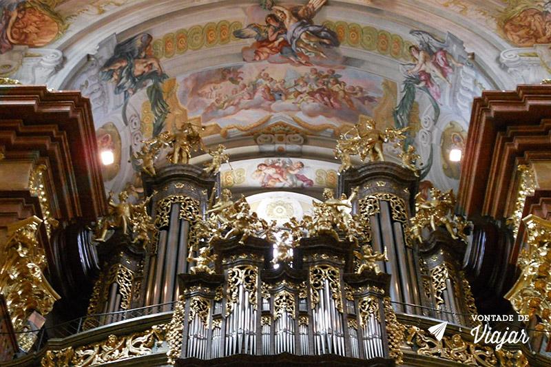 Órgão da Abadia de Melk, na Áustria