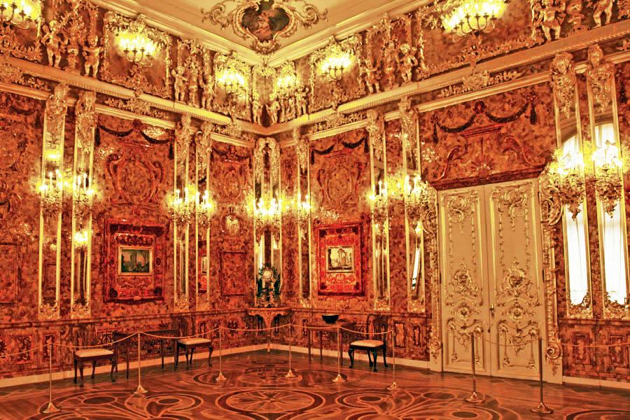 Tsarskoe Selo - Sala de Ambar Palacio de Catarina