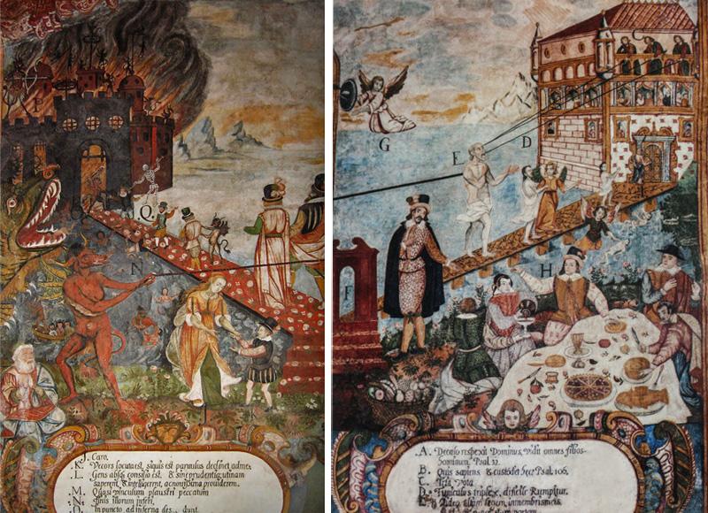 Igreja Andahuaylillas Peru - Caminho do Inferno e Caminho do Ceu