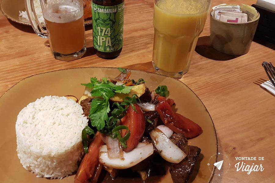 Restaurantes em Lima - Lomo saltado Tanta Gaston Acurio