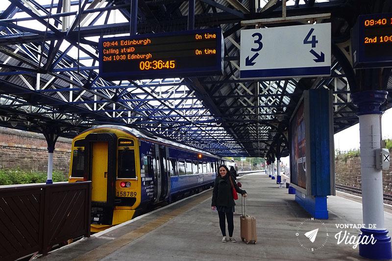 Trem na Europa - Trem na Escocia Dundee Edimburgo