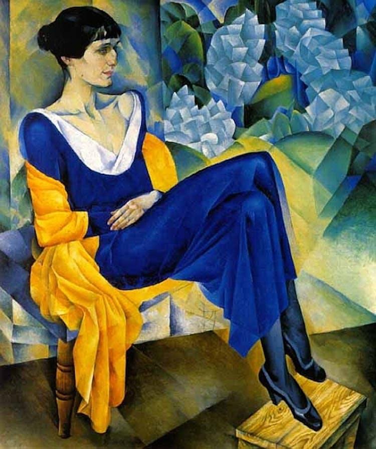 Literatura russa - Retrato de Anna Akhmatova por Nathan Altman 1914 no Museu Russo