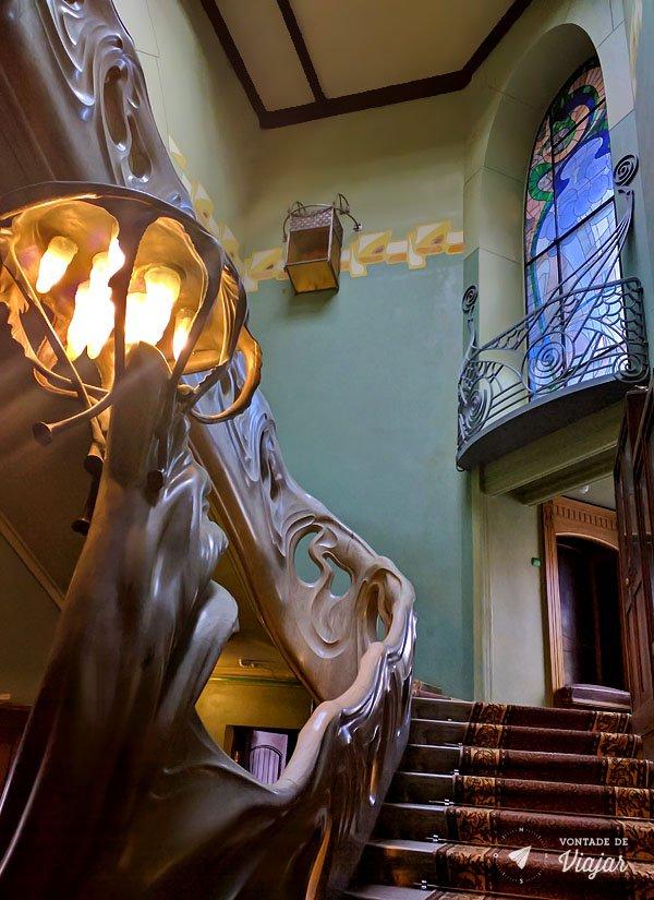 Moscou - Casa Gorki - Mansao Riabushinsky escadaria art nouveau
