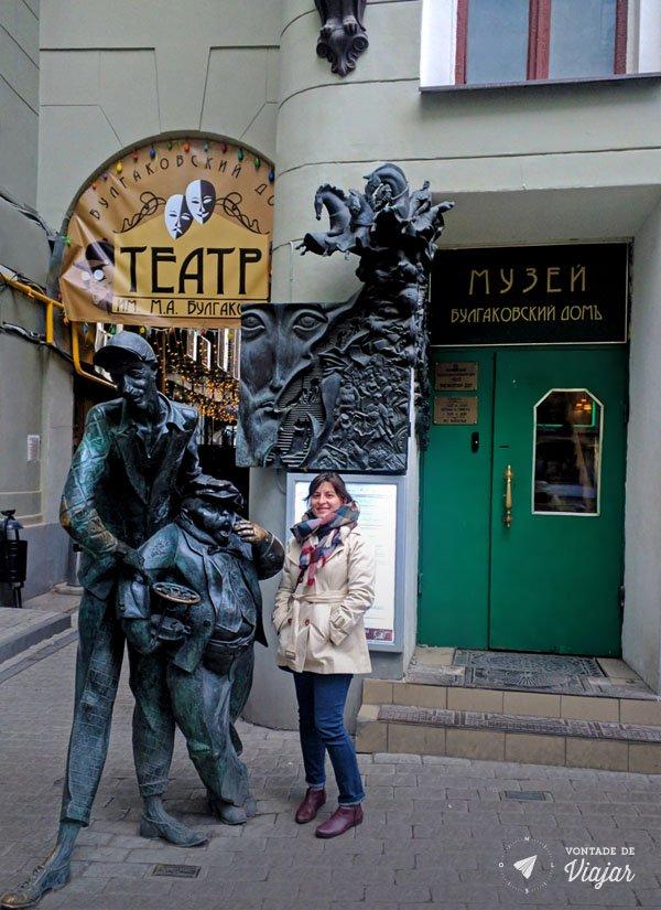 Moscou - Estatuas Mestre Margarida - Casa Woland
