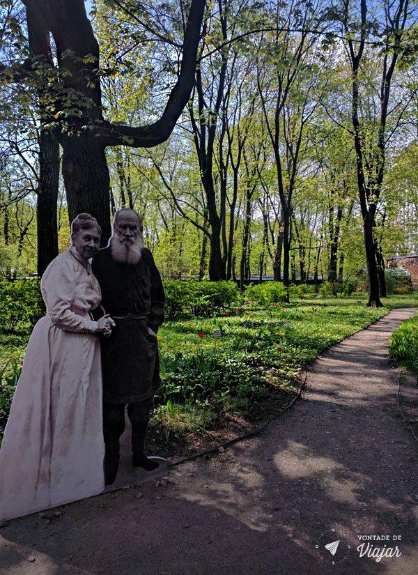 Russia Moscou - Jardim Casa de Tolstoi