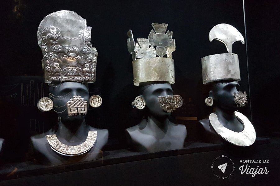 Museu Larco Lima Peru - Ornamentos de prata das civilizacoes pre incaicas