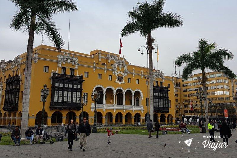 Plaza de Armas - Arquitetura colonial em Lima Peru
